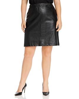 JUNAROSE Plus - Savannah Faux-Leather Skirt