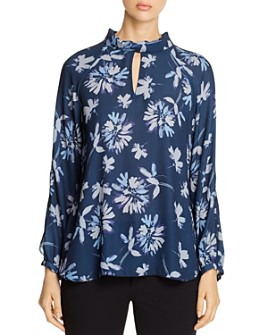 Lyssé - Victoria Floral Mock-Neck Top