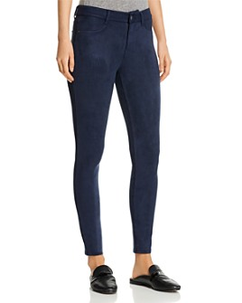 Level 99 - Janice Faux-Suede Skinny Jeans