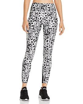 Urban Savage - Mesh-Inset Leopard Print Leggings
