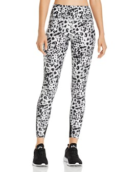 Urban Savage - Mesh-Inset Leopard Print Leggings