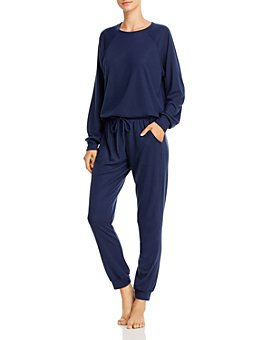 Eberjey - Mina Ringer Sweatshirt & Drawstring Jogger Pants