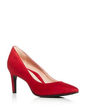 Taryn Rose - Women's Gabriela Suede Pointed-Toe Pumps