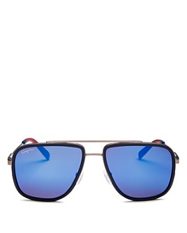 Salvatore Ferragamo - Men's Brow Bar Aviator Sunglasses, 57mm