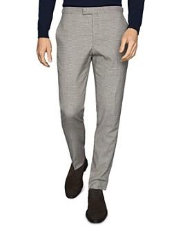 REISS - Butler Micro-Tattersall Slim Fit Pants