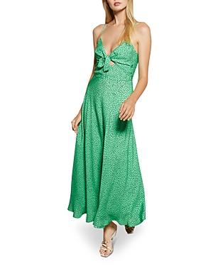 Bec & Bridge Dresses NEVE MATTE SATIN DOT MIDI DRESS