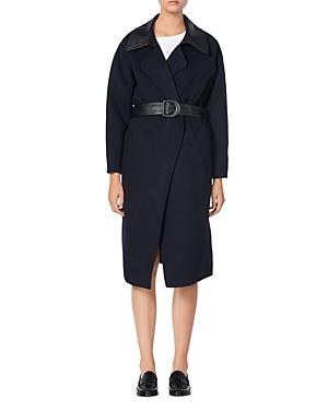 Sandro Linna Belted Coat