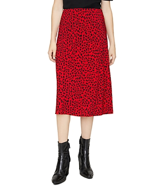 Sanctuary Animal Print Midi Slip Skirt