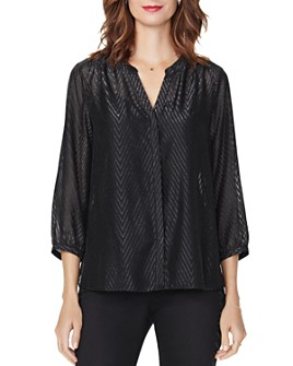 NYDJ - Metallic Chevron Blouse