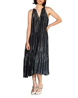 Velvet by Graham & Spencer - Jorja Tiered Lamé Dress