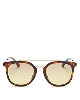 Gucci - Men's Brow Bar Square Sunglasses, 52mm