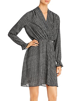 Vero Moda - Individual Long Sleeve Faux Wrap Dress