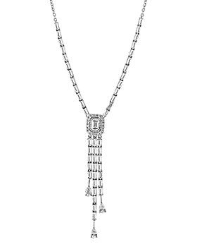 Bloomingdale's - Fancy-Cut Diamond Y Necklace in 14K White Gold, 1.40 ct. t.w. - 100% Exclusive