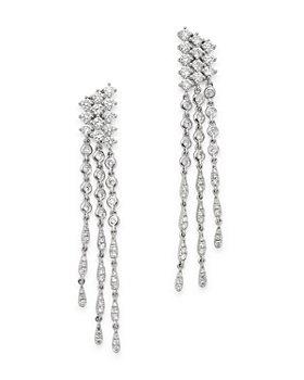 Bloomingdale's - Diamond Cascade Drop Earrings in 18K White Gold, 1.55 ct. t.w. - 100% Exclusive