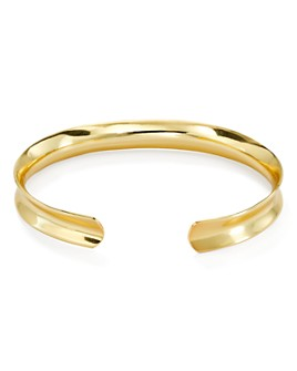 Argento Vivo - Flat Bold Cuff Bracelet in 18K Gold-Plated Sterling Silver