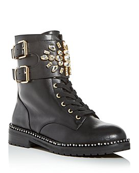 KURT GEIGER LONDON - Women's Stoop Embellished Combat Boots