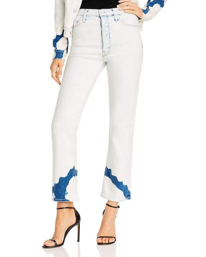 MOTHER - The Tripper Bleached Kick Flare Jeans in Marshmallows For Breakfast