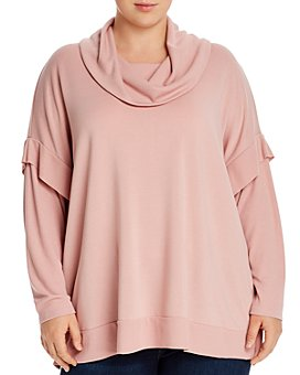 Cupio Plus - Terry Cowl-Neck Sweater