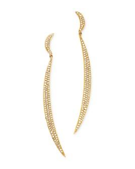 Madhuri Parson - 18K Yellow Gold Diamond Essentials Elegant Warrior Earrings