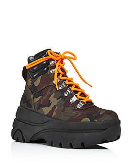 AQUA - Women's Haly Platform Hiker Boots - 100% Exclusive