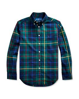 Ralph Lauren - Boys' Plaid Poplin Button-Down Shirt - Big Kid