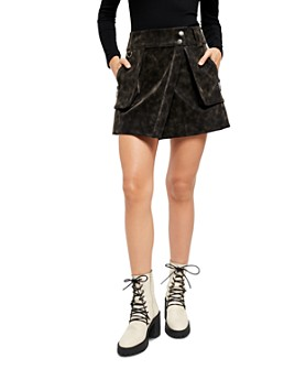 Free People - Carson Faux Leather Utility Skirt