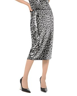 MICHAEL Michael Kors - Sequined Leopard Pencil Skirt