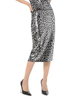 MICHAEL Michael Kors - Sequined Leopard Pencil Skirt