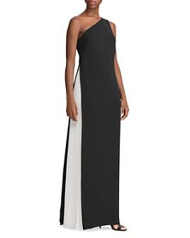 Ralph Lauren - Two-Tone One-Shoulder Gown