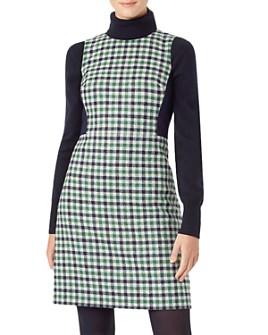 HOBBS LONDON -  Rosella Plaid Wool Dress