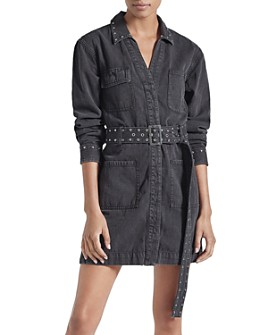 Current/Elliott - The Debbie Studded Shirt Dress
