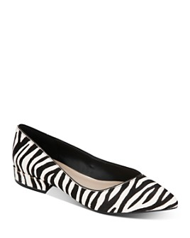 Kenneth Cole - Women's Camelia Zebra-Print Ballet Flats