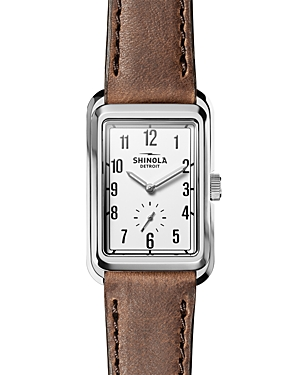 Shinola The Omaha Leather Strap Watch, 26mm x 36mm