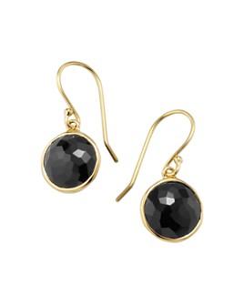 IPPOLITA - 18K Yellow Gold Lollipop Onyx Mini Drop Earrings