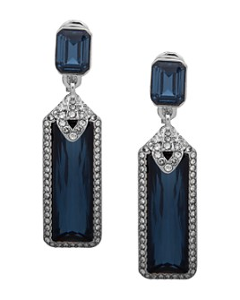 Ralph Lauren - Pavé Faceted Clip-On Drop Earrings