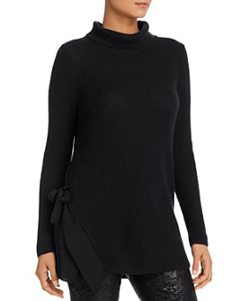 NIC and ZOE - Side-Tie Turtleneck Tunic Sweater