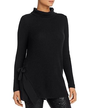 Nic+Zoe Petites Side-Tie Turtleneck Tunic Sweater