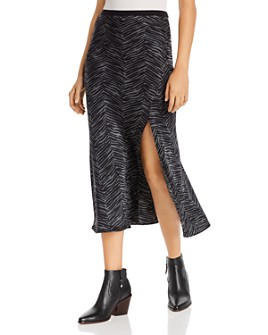 Anine Bing - Dolly Zebra-Print Silk Skirt