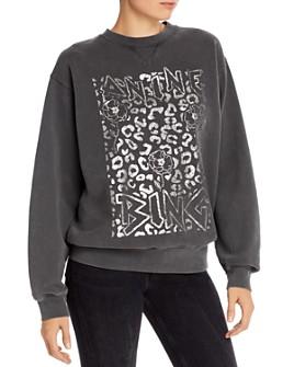 Anine Bing - Ramona Leopard Logo Sweatshirt