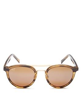 Maui Jim - Women's Sunny Days Brow Bar Round Sunglasses, 49mm