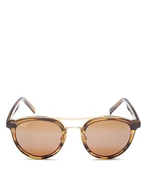 Women's Sunny Days Polarized Brow Bar Round Sunglasses