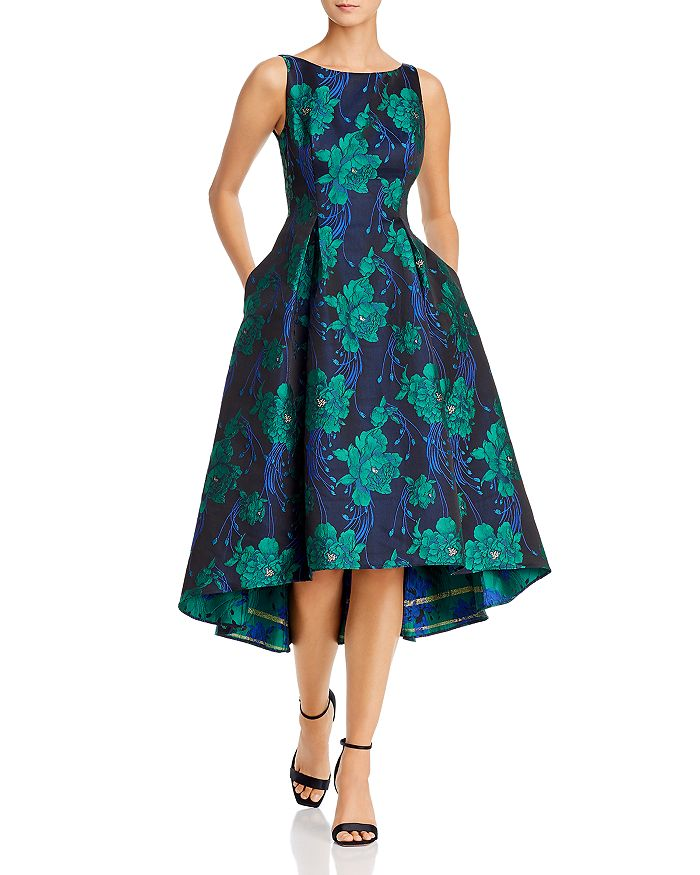 Adrianna Papell - Charmed Floral Jacquard High/Low Dress