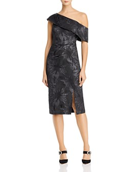Aidan Mattox - Off-the-Shoulder Popover Jacquard Dress
