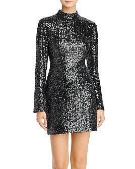 Rachel Zoe - Pierina Long Sleeve Sequin Mini Dress