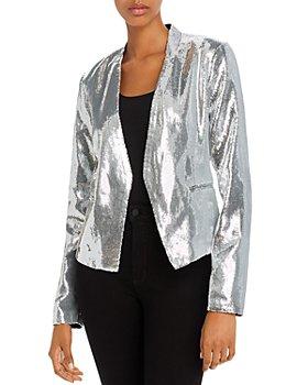 BLANKNYC - Sequined Open-Front Blazer