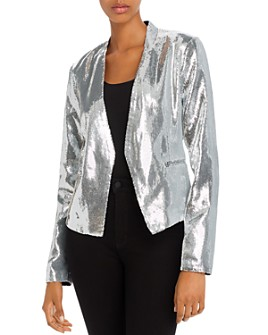 BLANKNYC - Sequined Open-Front Blazer