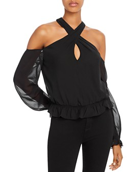 GUESS - Yeni Cold-Shoulder Top