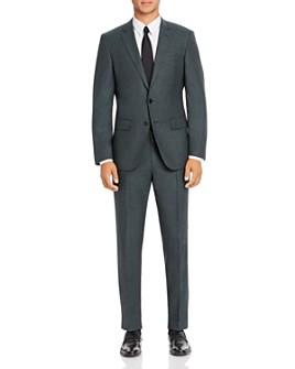 BOSS - Huge/Genius Micro Check Slim Fit Suit