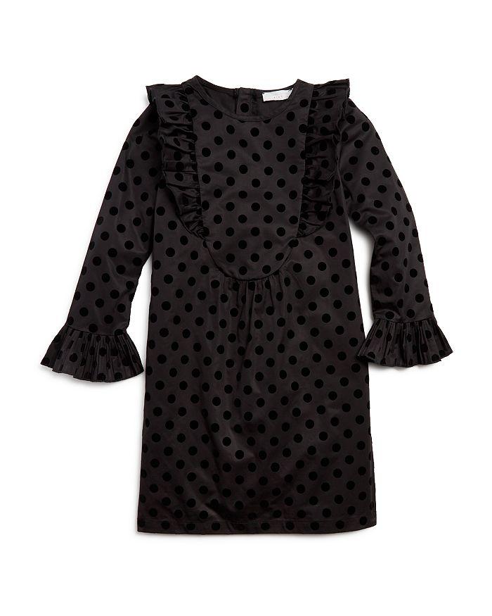 Stella McCartney - Girls' Flocked Polka Dot Print Dress - Little Kid, Big Kid