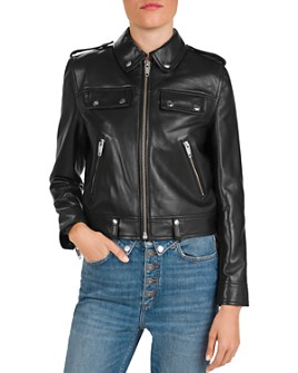 The Kooples - Cropped Leather Jacket